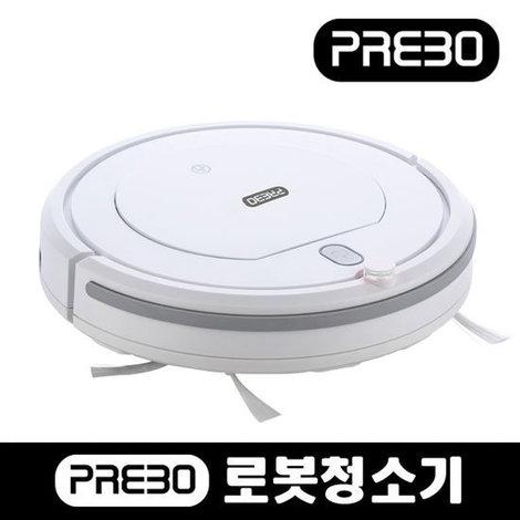 [프레보] 로봇청소기 JSK-17003(본체, 스핀브러쉬2개, 충전어뎁터, 리모콘 , 추가구성: 먼지필터 3개, 청소브러쉬)